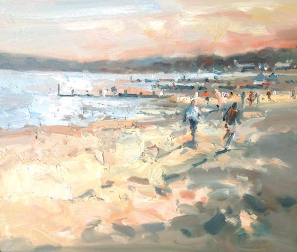 Bournemouth beach, evening light