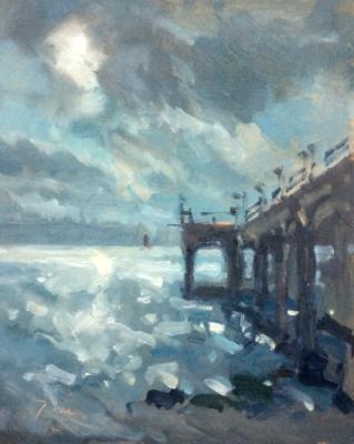 Boscombe pier, sunlight