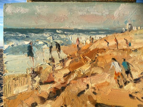 On katwijk beach