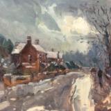 Icy roads, Church walk south.