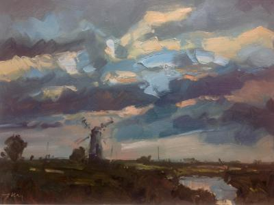 Evening light from the village of Thurne, Norfolk.