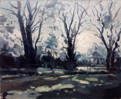 January light, Swindon old Town Gardens.