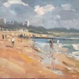 Bournemouth beach, sunny sky