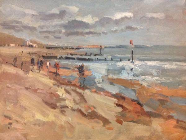 Bournemouth beach, sunny day.