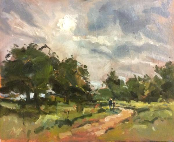 Morning sun at Stanton park.
